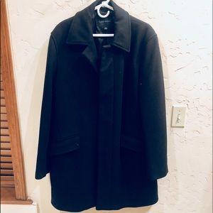 Men's Banana Republic Long Black Wool Dress Coat